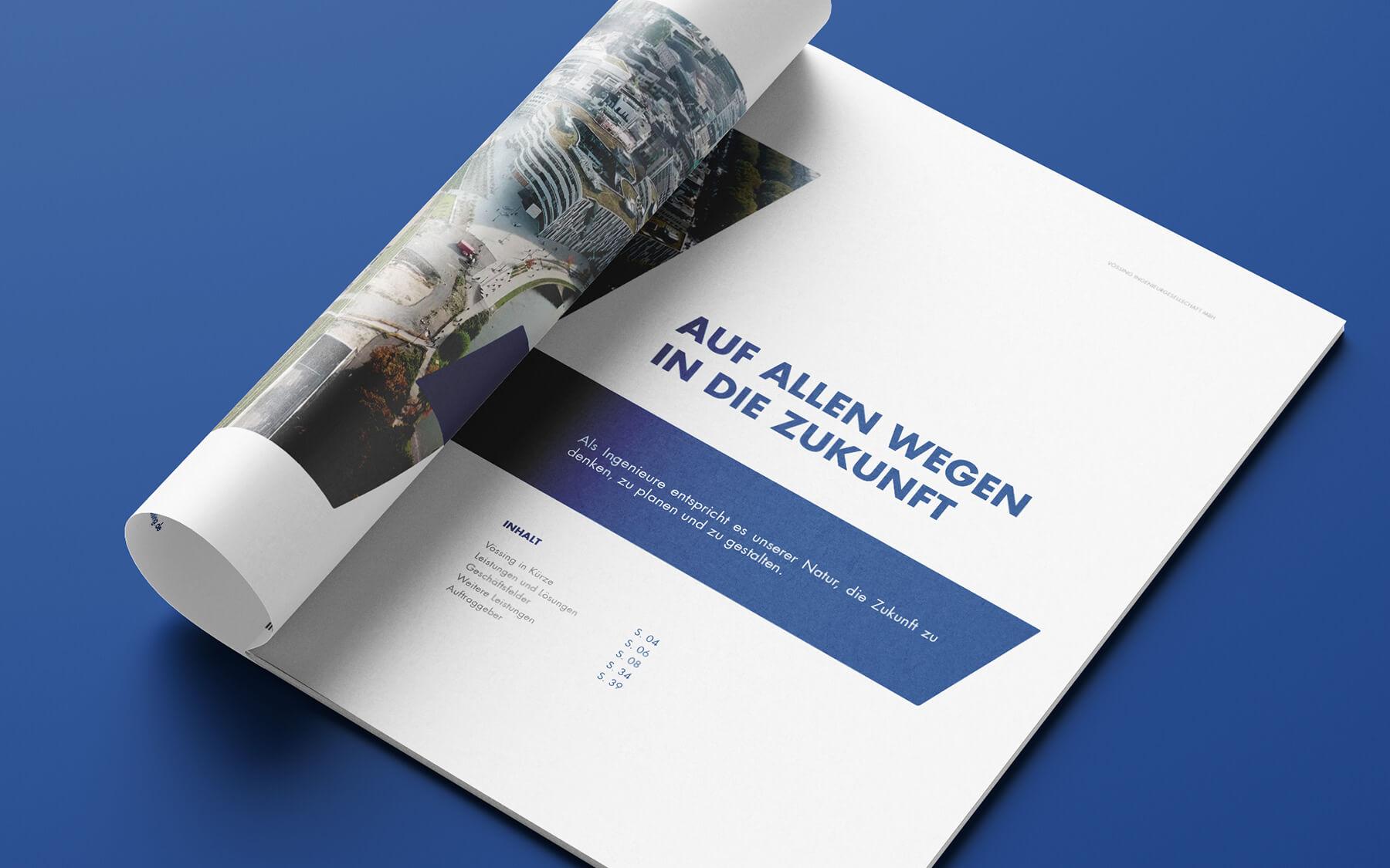 grafik design agentur layout kataloge print werbeagentur berlin corporate design layout vössing innenseite