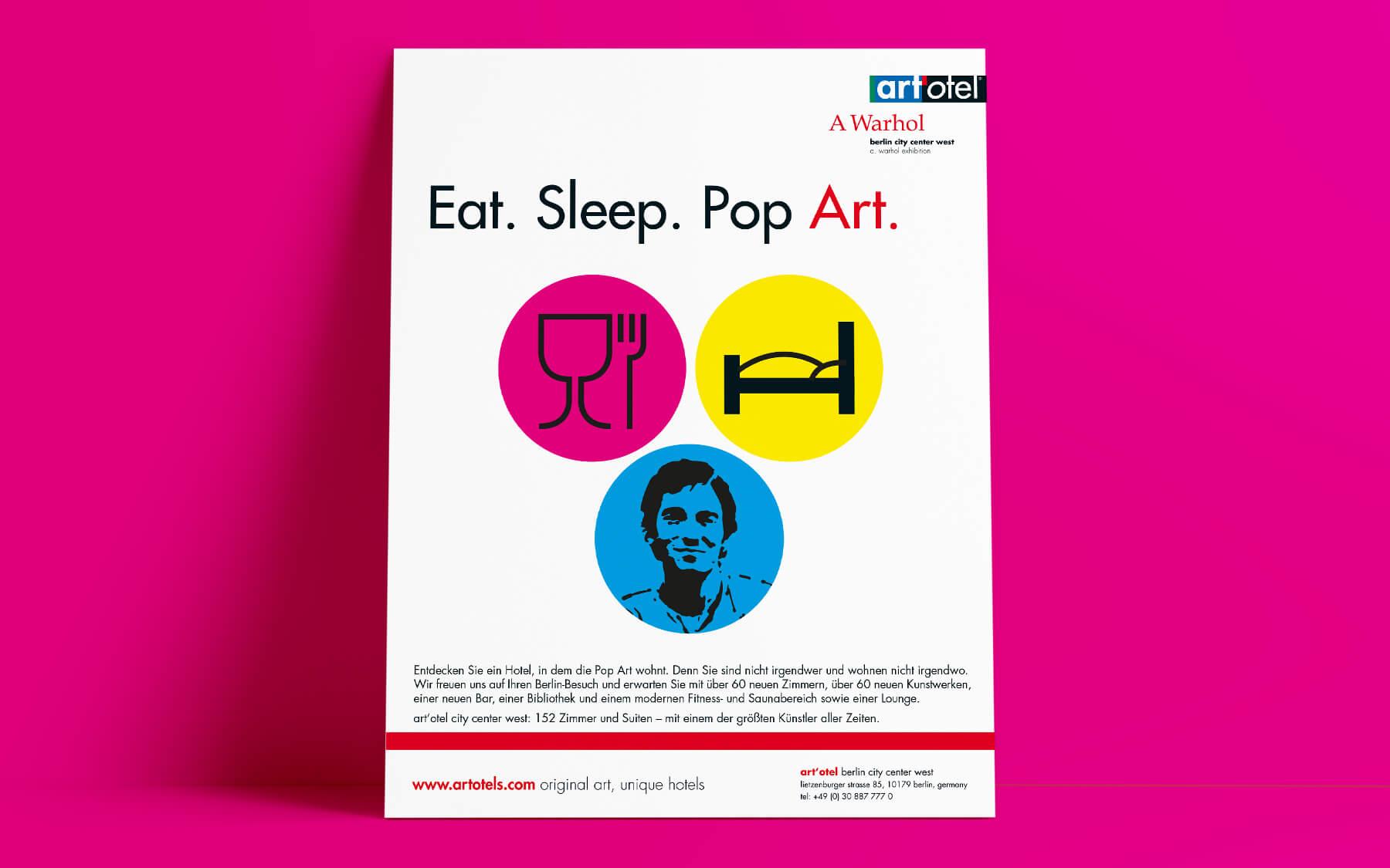 kreativagentur berlin creativ ideenschmiede factory werbeagentur berlin sued art hotel otel eat sleep pop art