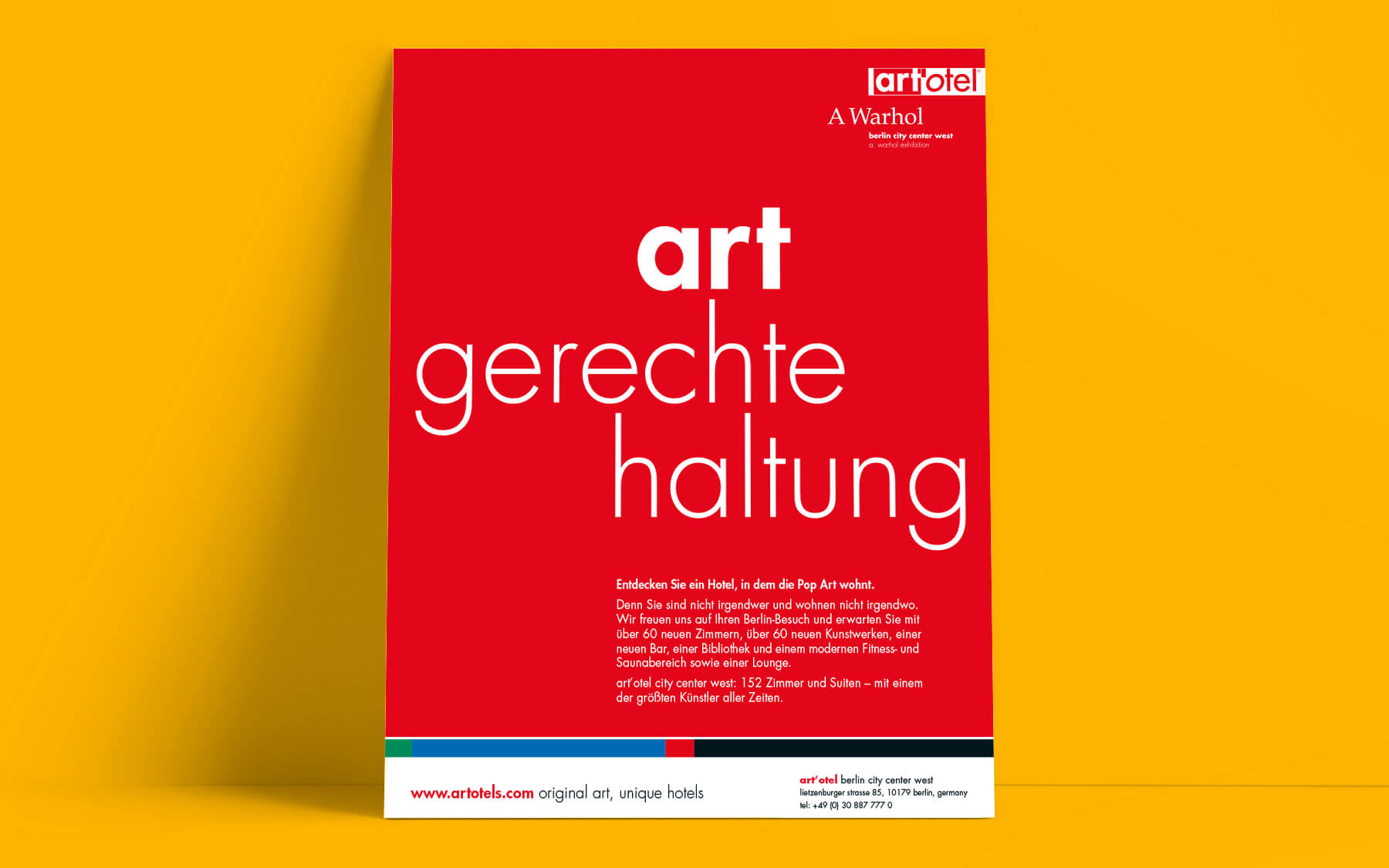 kreativagentur berlin creativ ideenschmiede factory werbeagentur berlin sued art hotel otel gerechte haltung