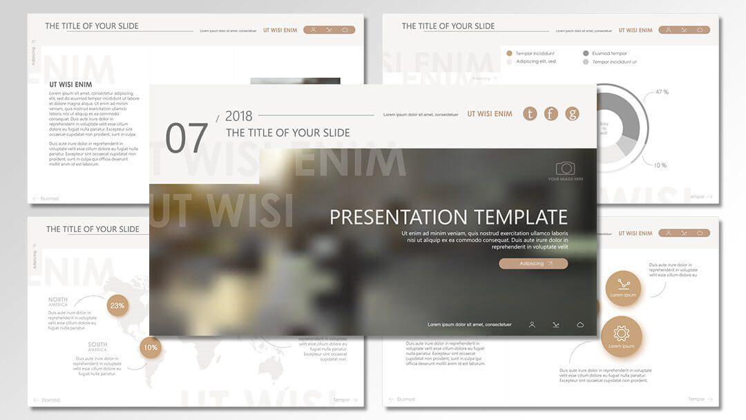 powerpoint agentur professionelle vorlagen beige them clean content erstellung werbeagentur berlin corporate design