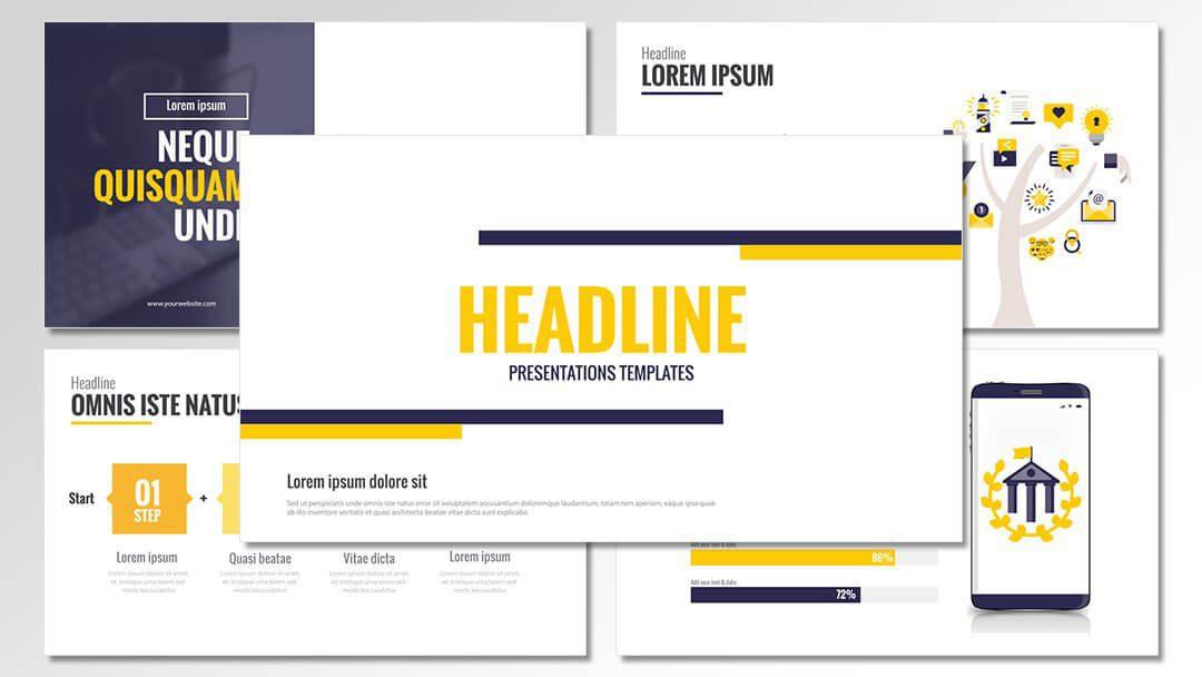 powerpoint agentur professionelle company cd yellow vorlagen content erstellung werbeagentur berlin corporate design
