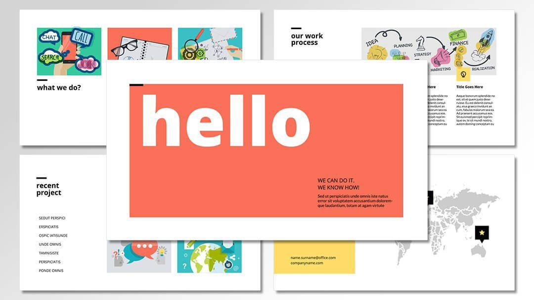 powerpoint agentur professionelle flat vorlagen content erstellung werbeagentur berlin corporate design