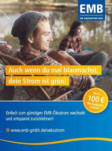 branding agentur werbeagentur berlin corporate design Kampagnenmotiv Blaumachen: Camper mit Gitarre am See