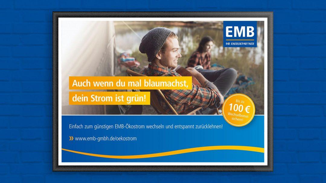 branding agentur werbeagentur berlin corporate design, Kampagnenmotiv Blaumachen: Camper mit Gitarre am See