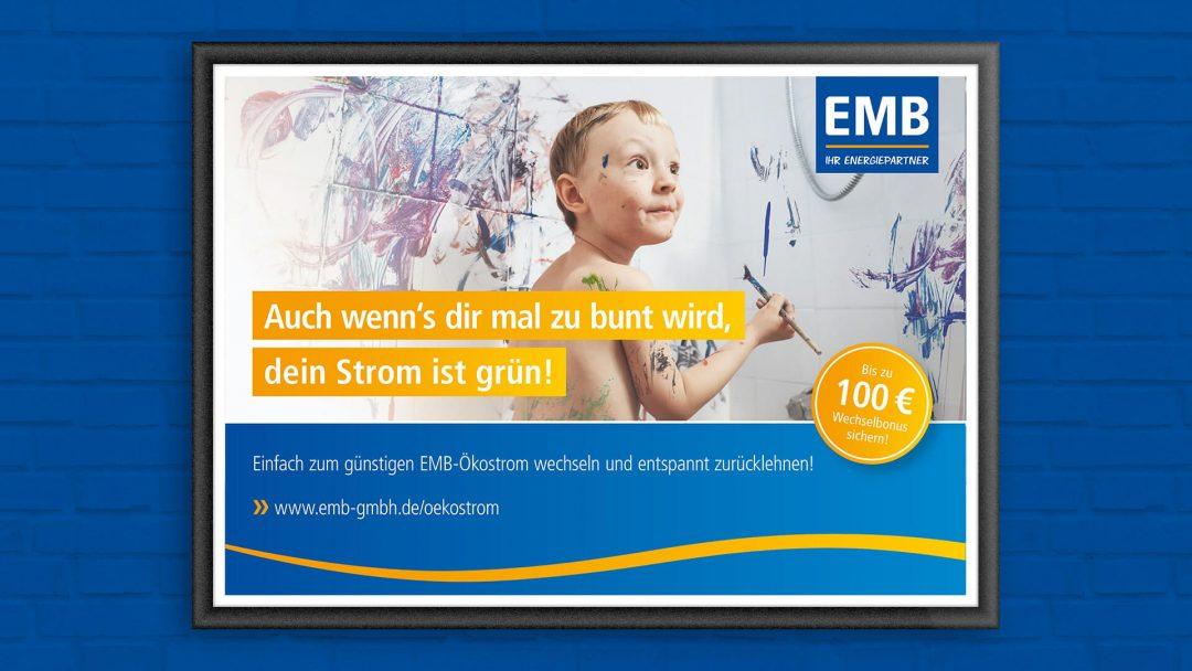 branding agentur werbeagentur berlin corporate design, Kampagnenmotiv Bunt werden Junge bemalt Badfliesen