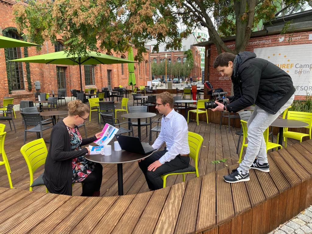 werbefilm produktion berlinwerbung commercial spot tv werbung werbeagentur berlin animation schnitt / Dreharbeiten Video infrest auf EUREF-Campus Berlin 2